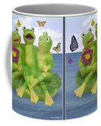 Happy Frogs - Gently Cross Your Eyes And Focus On The Middle Image Coffee Mug