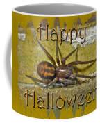 Happy Halloween Spider Greeting Card Coffee Mug