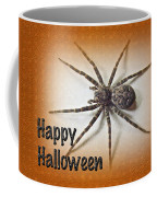 Happy Halloween Spider Greeting Card - Dolomedes Tenebrosus Coffee Mug