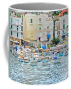 Harbor At Isle Of Capri Coffee Mug