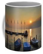 Harbor On A Foggy Lake Coffee Mug