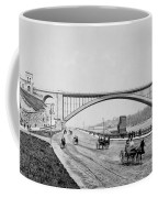 Harlem River Speedway Scene Beneath The George Washington Bridge Coffee Mug