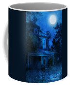 Haunted House Full Moon Coffee Mug by Jill Battaglia
