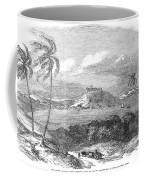 Havana, Cuba, 1851. /na View Of The Harbor And Fort Of Atares. Wood Engraving, English, 1851 Coffee Mug