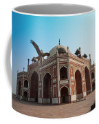 Hawk Flying Next To Humayun Tomb Delhi Coffee Mug