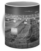 Hay Bales On A Farm In Alberta Coffee Mug