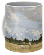Haymaking Coffee Mug by Eugene Louis Boudin