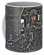 Hdr Image Of A Uh-60 Black Hawk Door Coffee Mug