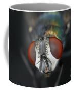 Head Of A Green Blow Fly Coffee Mug