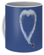 Heart Shape Smoke And Plane Coffee Mug