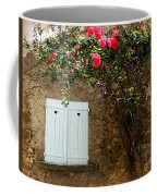 Heart Shutters And Red Roses Coffee Mug