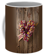 Heart Wreath With Weather Vane Arrow Coffee Mug