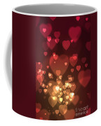 Hearts Background Coffee Mug