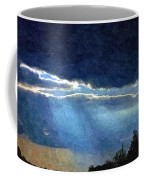 Heaven Opening To Let Out The Sun Painterly Style Coffee Mug