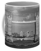 Helicopters Flying Through Tower Bridge Coffee Mug