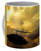 Helocopter In Clouds Coffee Mug