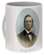 Henry Ward Beecher (1813-1887). American Clergyman. At Age 50: Steel Engraving, 19th Century Coffee Mug