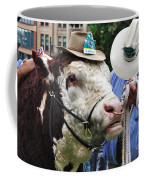Hereford Bull With Akubra Hat In Hyde Park Coffee Mug by Kaye Menner
