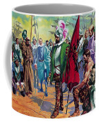 Hernando Cortes Arriving In Mexico In 1519 Coffee Mug