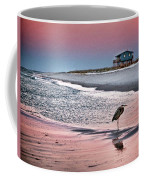 Heron And Beach House Coffee Mug