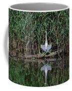 Heron Sunbath Coffee Mug