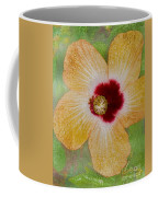 Hibiscus Gold And Red Coffee Mug
