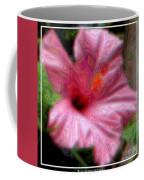 Hibiscus With A Blurred Enamel Effect Coffee Mug