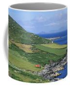 High Angle View Of A Coastline, Beara Coffee Mug
