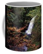 High Angle View Of A Waterfall, Glenoe Coffee Mug