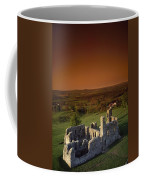 High Angle View Of An Old Ruin,with Coffee Mug