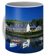 High Angle View Of Boats Moored At A Coffee Mug