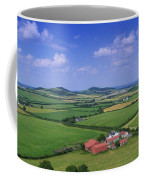 High Angle View Of Fields, Stradbally Coffee Mug