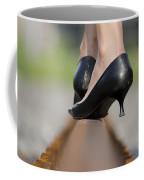 High Heels On Railroad Tracks Coffee Mug