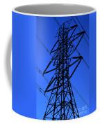 High Voltage Power Line Silhouette Coffee Mug