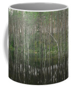 High Waters In A Forest Of Evergreens Coffee Mug by Mattias Klum