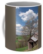 Hillside Weathered Barn Dramatic Spring Sky Coffee Mug by John Stephens