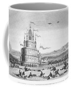 Hindu Sacrifice, 1837. /ndevotees In India Sacrifice Themselves To The Idol Juggernaut. Line Engraving, 1837 Coffee Mug