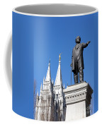 Historic Salt Lake Mormon Lds Temple And Brigham Young Coffee Mug