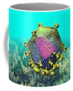 Hiv Virion Translucent On Blue Coffee Mug