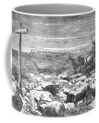 Hog Driving, 1868 Coffee Mug