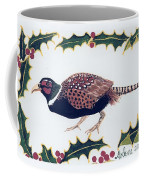 Holiday Pheasant Card Coffee Mug