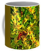 Honey Bee And Sedum  Coffee Mug