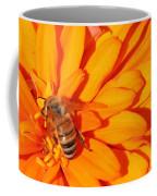 Honeybee On An Orange Zinnia Coffee Mug
