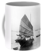 Hong Kong Harbor - Chinese Junk Boat - C 1907 Coffee Mug