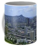 Honolulu And Diamond Head Coffee Mug
