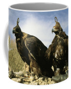 Hooded Eagles Stand Ready For Hunting Coffee Mug by Ed George