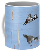 Hooded Merganser Flying Coffee Mug