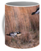 Hooded Merganser Gaining Altitude Coffee Mug