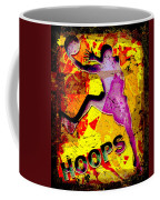 Hoops Basketball Player Abstract Coffee Mug by David G Paul