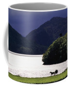 Horse And Buggy By Waterfront Coffee Mug